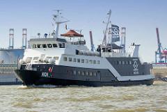 Ehem. Fähre - umgebaut zum Eventschiff MS Koi auf der Elbe vor Hamburg Steinwerder.