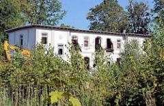 Leerstehender Pavillon auf dem Gelände des ehemaligen Eilbeker Krankenhauses in Hamburg Barmbek Süd; das Gebäude wird für den Abriss vorbereitet.