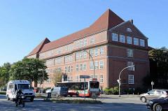 Gebäude vom Landesarbeitsgericht Hamburg an der Schleidenstraße / Osterbekstraße in Hamburg Barmbek Süd.