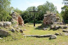 Ruine der Pfarrkirche St. Marien in Küstrin / Kostrzyn - Polen.