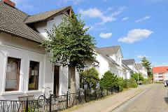 Historische Wohnhäuser in der Straße Klapperhof in Hamburg Lohbrügge. Arbeiterwohnungen, erbaut um 1900.