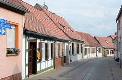 Wohnhäuser in der Burgstraße von Arneburg.