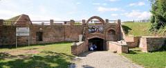Restaurierte / wiederaufgebaute Bastion Philipp der Festung Küstrin / Kostrzyn - Polen.