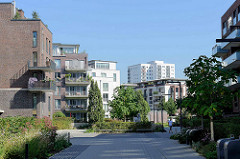 Neubaugebiet Othmarscher Höfe an der Jürgen Töpfer Straße / Behringstraße in Hamburg Othmarschen; Wohnquartier mit ca. 925 Wohnungen und 12 500 qm Gewerbefläche.