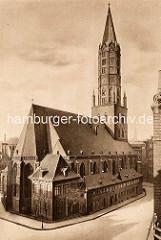 Historisches Bild der Hamburger Hauptkirche St. Jacobi.