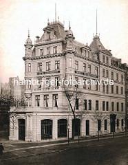 Historische Gründerzeitarchitektur in Hamburg St. Georg - Hotel Schadendorf am Steindamm / Große Allee.