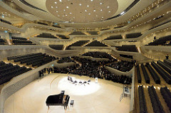 Pressekonferenz zur Eröffnung der Plaza / Aussichtsplattform der Elbphilharmonie in der Hansestadt Hamburg im Großen Saal.