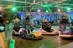 Autoscooter für Kinder - Dom / Jahrmarkt in der Hansestadt Hamburg.
