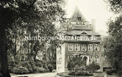 Historisches Bild von Schloss Ritzebüttel in Cuxhaven; Wohnsitz der Hamburger Amtsmänner während der Zugehörigkeit zu Hamburg.