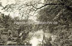 Historisches Bild vom Schlossgraben / Schloss Ritzebüttel in Cuxhaven.