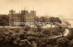 Historische Ansicht der Deutschen Seewarte auf dem Stintfang.