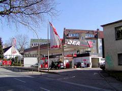 Deatankstelle in der Ohlsdorfer Straße in Hamburg Winterhude.