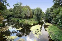 Stadtpark und Wustrauer Rhin in Fehrbellin.