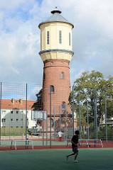 Historischer Wasserturm in Neuruppin, Höhe 23 m / errichtet 1897 - jetzt Kletterturm / Kletterzentrum.