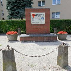 Denkmal an den Todesmarsch der Häftlinge des KZ Sachsenhaus in Neuruppin.