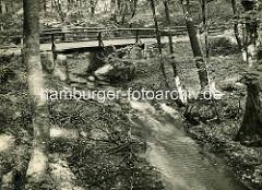 Historische Ansicht aus dem Ruppiner Land / Schweiz - Inabrücke über den Binenbach.