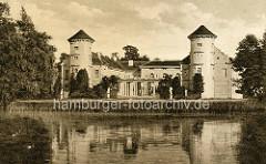 Historisches Bild vom Rheinsberger Schloss - Blick über den Grienericksee.