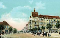 Historische Ansicht von der ehem. Friedrich Wilhelm Straße / heute Karl Marx Strasse in Neuruppin.