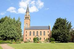 Dorfkirche in Langen / Fehrbellin, Einweihung 1855.