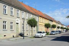 Wohnhäuser in der  Virchowstraße von Neuruppin.