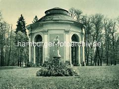 Altes Bild vom Orangerie Pavillion / Salon im Schlosspark Rheinsberg.