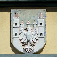 Wappen der Stadt Neuruppin - Fassadenschmuck.