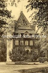 Historische Ansicht vom Schloss Ritzebüttel in Cuxhaven.