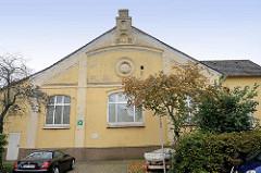 Historisches Schularchitektur - Gebäude der Waldorfschule in Cuxhaven.