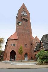 Evangelische Marinegarnisionskirche / seit 1950 St. Petri Kirche in Cuxhaven. Einweihung 1911 - baltischer Gotikstil.