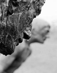 Keen nich will dieken, de mutt wieken - Skulptur zum Gedenken an das Eindeiche in Otterndorf; Entwurf / Ausführung Bildhauer Müller-Belecke, 1996.n