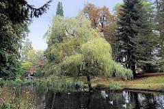 Schloßpark vom Schloss Ritzebüttel in Cuxhaven.