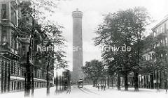 Hamburg Rothenburgsort vor der Zerstörung: Historische Ansicht vom Wasserturm der Hamburger Wasserwerke.