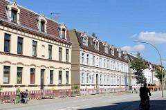 Gründerzeitarchitektur - Wohnhäuser, Wohnblocks im Weidenbaumsweg in Hamburg Bergedorf.
