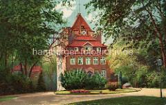Historische farbige Ansicht vom Schloss Ritzebüttel in Cuxhaven.