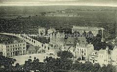 Historische Aufnahme / Flugbild von Cuxhaven - Blick auf die Poststraße