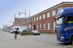 Alte Fischhallen an der Neufelder Straße in Cuxhaven.
