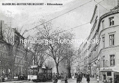 Altes Bild aus Hamburg Rothenburgsort - Billhorner Röhrendamm.