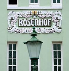 Wohngebäude Rosenhof in Hamburg Bergedorf, Jugendstilarchitektur - erbaut 1910, Architekten  Kugelberg & Matthiesen.