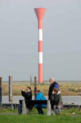 Leuchtturm / Leuchtfeuer an der  Elbe / Medem in Otterndorf.