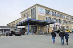 Architektur der 1960er Jahre - Kutterfisch Zentrale, Erzeugergemeinschaft der Kleinen Hochseefischerei in Cuxhaven.