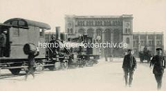 Altes Bild vom Venloer Bahnhof - nach 1892 Hannoverscher Bahnhof (auch Pariser Bahnhof).