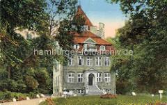 Historische colorierte Ansicht vom Schloss Ritzebüttel in Cuxhaven.