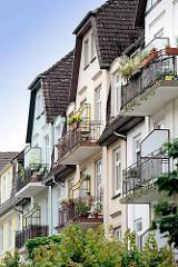 Historische Architektur in Hamburg Bergedorf - Wohnhäuser in der Soltaustrasse.