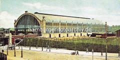 Altes Bild vom Sternschanzenbahnhof in Hamburg, eröffnet 1903..