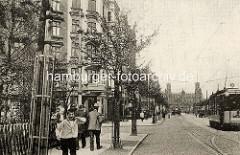 Bilder von der historischen Veddel - Geschichte der Hansestadt Hamburg; Blick auf das Portal der Norderelbbrücke.
