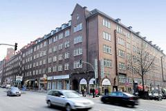 Blick über die Steinstraße in der Hamburg Altstadt zum Altstädter Hof, Kontorhausviertel Hamburg.