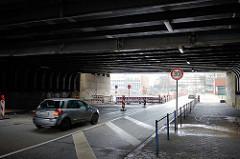 Strassenunterführung der Tunnelstraße in Hamburg Veddel.