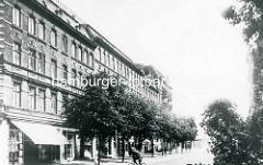 Historische Ansicht vom Niederfeldstraße auf der Hamburger Veddel - Wohnblock / Arbeiterwohnungen.
