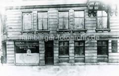 Historische Ansicht vom Sieldeich / Ecke Niedernfeldstraße auf der Hamburger Veddel - Eckgeschäft Bäckerei Conditorei