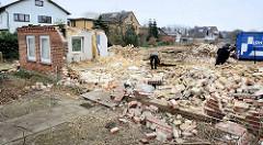 Reste vom Wohnhaus des Bauernhofs Ahlers am Dorfing in Tangstedt / Wilstedt.